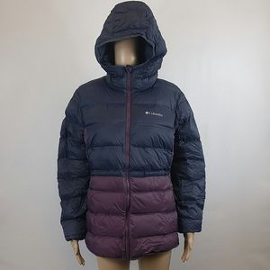 Columbia WMNS Sunrise Peak Down Jacket Navy/Plum L